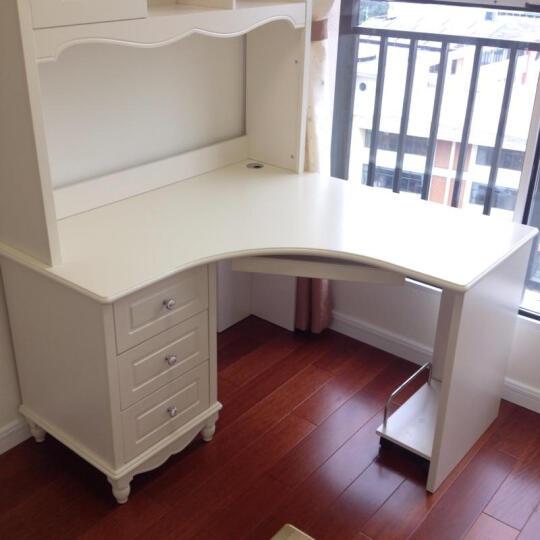 诺曼花园 书桌实木韩式田园学习桌电脑桌写字台家用办公桌书桌书柜组合 直角书桌*转椅*801二门衣柜 1.2米 晒单图