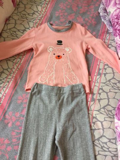 俞兆林儿童内衣套装精梳棉家居服2件套装 YH56T049005 带帽小熊 虾红120 晒单图