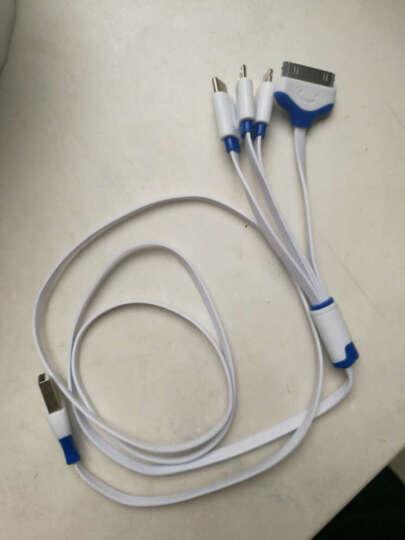 Capshi 苹果数据线 Type-C安卓数据线 一拖三四蓝 iPhone76plus/ipad三星S8华为P10荣耀8小米5/oppo乐视vivo 晒单图