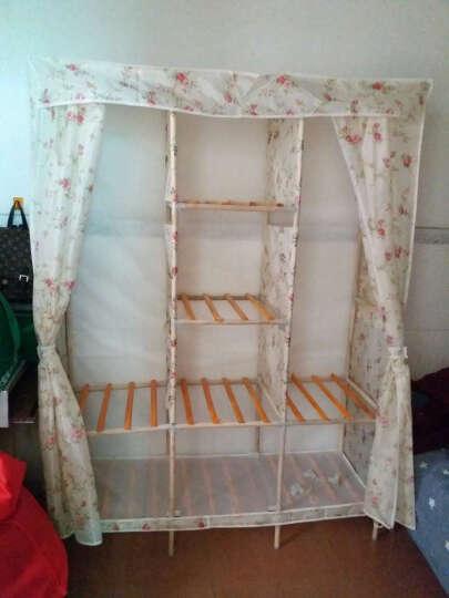 名创优品(MINGCHUANGUP) 名创优品 实木 布衣柜加固加厚大号组合收纳衣柜简易 蓝色脚丫 晒单图