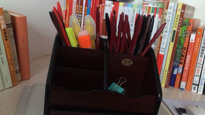 信发(TRNFA) TN-711 笔筒木质收纳盒 办公桌面整理架置物柜 化妆品遥控器收纳用品架 晒单图