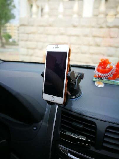 福鹿 车载手机支架 吸盘折叠出风口叠伸缩支架 汽车手机导航支架 重力支架 星空黑 晒单图