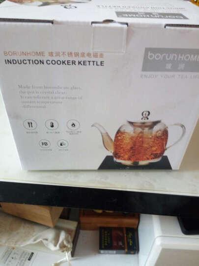 BORUNHOME玻璃茶壶 可加热茶壶耐热玻璃壶带过滤网泡茶壶耐高温煮茶壶养生茶具花茶壶 1800壶+4茶杯+电陶炉 晒单图