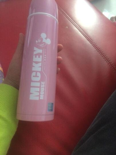 迪士尼(Disney)保温杯米奇儿童水杯真空学生保温水壶 送潜水杯套 粉色 晒单图