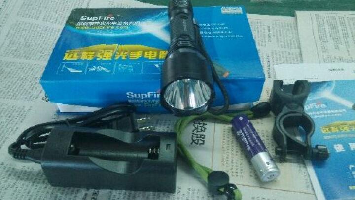 神火 (supfire) C10S泛光高亮强光手电筒 进口L2灯泡 自行车灯 手电+2节电池+充电器+赠车夹 晒单图