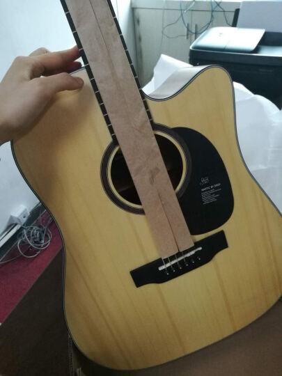 盛听(ShengTing) 曼泰(MANTIC) 曼泰吉他 民谣吉他新手初学40寸41寸jita吉他 AG-370原木色圆角 41寸 晒单图