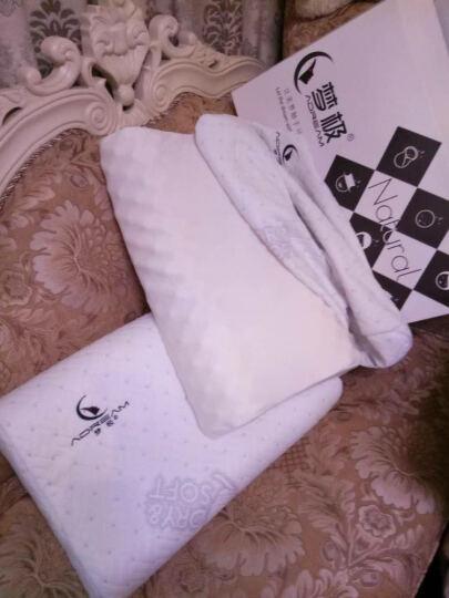 梦极枕头天然乳胶枕头泰国进口橡胶记忆按摩颈椎护颈枕芯套装 【成人按摩低枕】60*40*8/10CM 晒单图