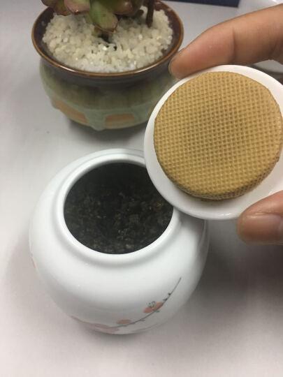 漫美 手绘茶叶罐大号陶瓷茶叶盒醒茶罐小号茶叶包装盒茶盒陶瓷罐茶叶桶茶叶包装袋瓷罐便携密封罐 梅(小号) 晒单图