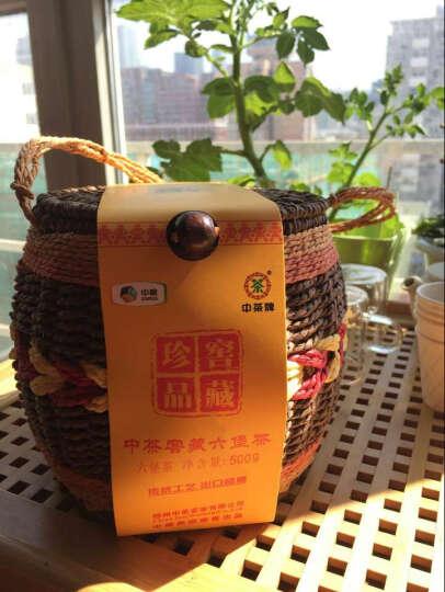 中粮中茶 六堡茶8218箩装500g 广西梧州特产 黑茶 陈茶 配礼袋 送礼佳品 晒单图
