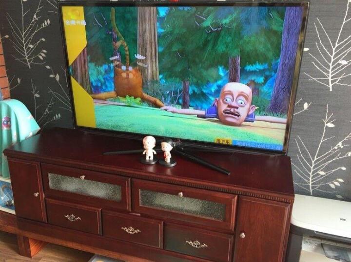 帝菲雅 实木电视柜组合小户型中式电视机柜摆件地柜卧室电视桌客厅小电视柜矮柜 156cm枣红色 晒单图