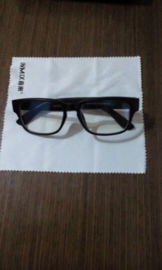 inmix音米经典方框眼镜架平光眼镜女眼镜 电脑护目镜  2042 磨砂黑 晒单图