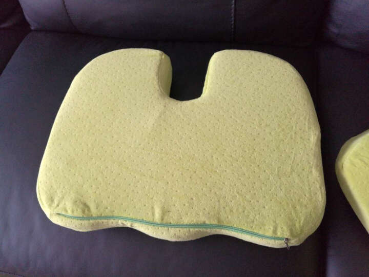 C.Life 怡眠 坐垫抱枕靠垫 塑臀记忆棉 u型翘臀垫 提臀瘦臀办公椅垫 椅子垫 美臀坐垫 鹅黄色 45*35厘米 晒单图