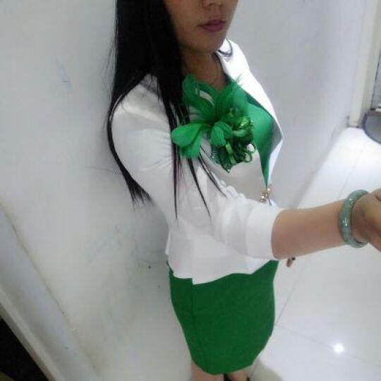 雅若美韩版小西装女职业装连衣裙套装修身前台美容师工作服小外套 白色西装(单件七分袖) L(建议100-110斤) 晒单图