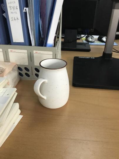 千度尚品 zakka日式复古陶瓷杯 牛奶茶杯陶瓷杯子水杯咖啡杯马克杯带盖带勺 高款满天星白色+瓷盖+专属勺 晒单图