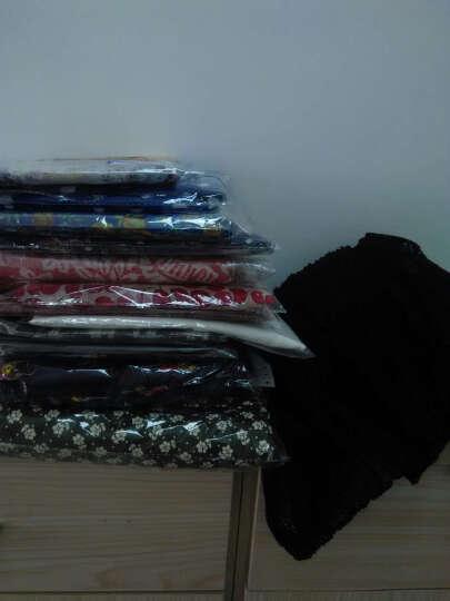 煊缎 真丝欧根纱+棉布混纺 软廓形蓬蓬感微透红黑格纹衬衫服装面料双色格子布料 2号 黑条纹 晒单图