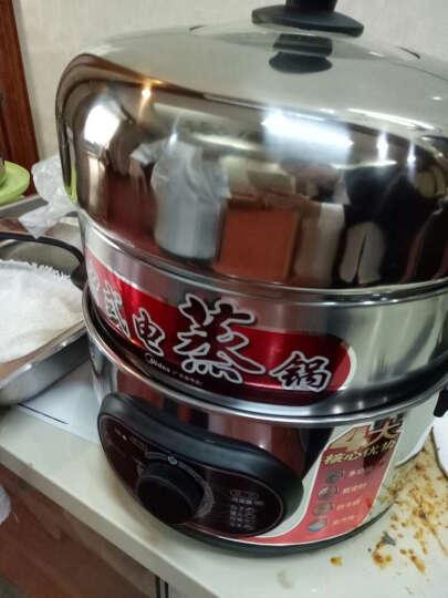 美的(Midea) 电蒸锅多功能三层电蒸锅不锈钢 SYH28-21 浅灰色 晒单图