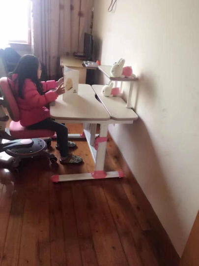 智学库 儿童椅学习椅可升降儿童学习椅成长椅 ZY-08活力粉 晒单图