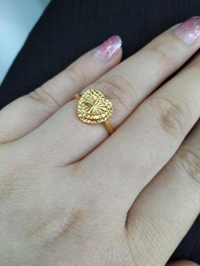 花好玉缘 心爱 18k黄金戒指女 表白订婚结婚礼物珠宝首饰 晒单图