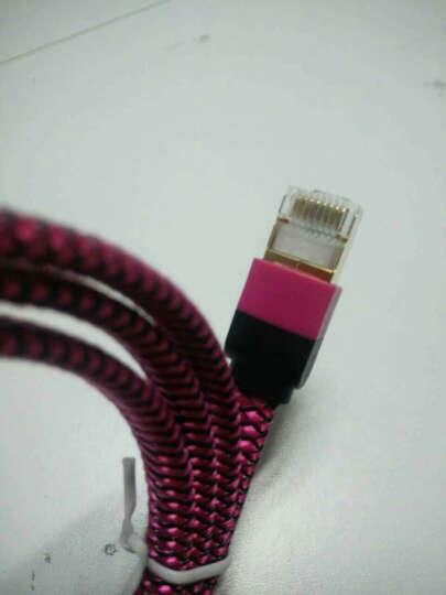 万级网线千兆七类扁平成品7类万兆10米1米5米2米3家装光纤宽带高速网络连接线家用办公电脑路由器线缆 玖瑰红 1米 晒单图