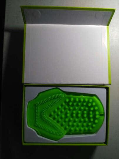 诺嘉 MM29美肌经络刷消脂掌按摩手套美容刷五行美体刷搓澡洗澡沐浴按摩器 精油按摩刷 橄榄绿 晒单图