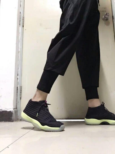 NOTHOMME 设计师潮牌男 假两件裤子男士休闲裤 运动裤男 黑色 XL 晒单图