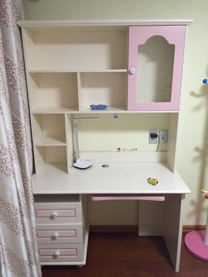 七彩元素 儿童书桌 电脑学习台 粉色转角书柜8301S 转角书桌(不含椅子) 晒单图