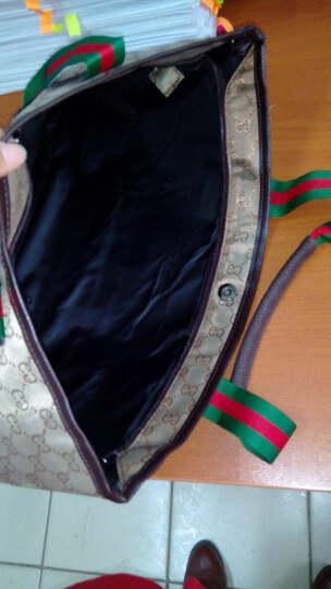 吉野豹纹包包2019新款韩版女士单肩包大包包时尚潮流百搭手提包休闲女包包尼龙防水包妈咪旅行包购物包袋 卡其色 晒单图