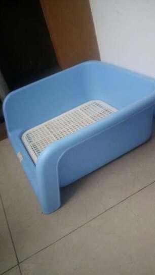 PETCIRCLE 狗狗厕所泰迪比熊小型犬铺垫式便盆塑料可拆洗 买大号送清洁液和尿片 带立墙粉色小 晒单图