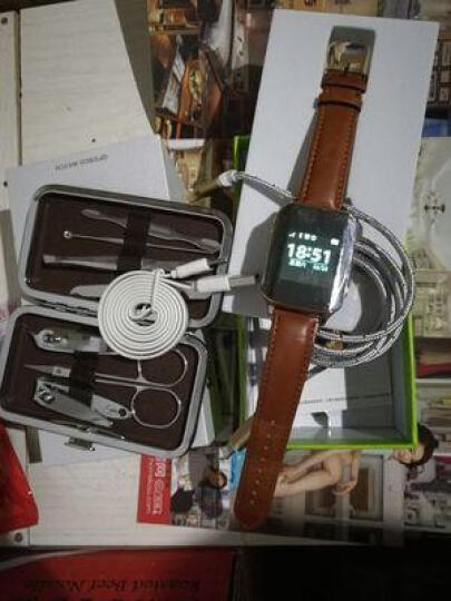 【心率监测款】keke老人智能电话手表GPS定位插卡语音通话手机老人健康运动腕表 【触摸屏】血压心率款-黑色 晒单图