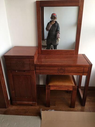 作木坊 梳妆台实木家具海棠木化妆台妆镜C801 组合1(梳妆台+梳妆镜) 海棠木 晒单图