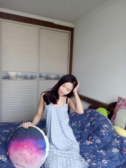 玛宝娜 吊带睡裙女夏季韩版可爱甜美睡衣夏天女士吊带背心休闲家居服 1132 灰色吊带裙 XL(可调节肩带) 晒单图