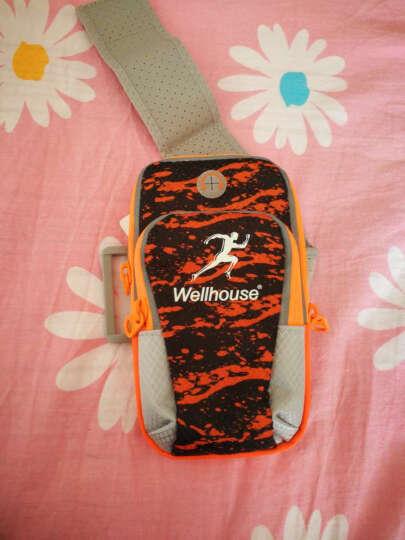 卡罗家炫酷运动手机手臂包 手机绑带包 跑步包 钥匙手机包 夜光  喷彩橙 L码适合机型见详情 晒单图