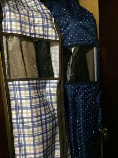 宅美 立体衣服防尘罩 手提大衣收纳袋 西服套西装罩 加厚衣物挂衣袋防尘袋 收纳挂袋 格调蓝 57*25*110cm 晒单图
