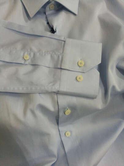 JUDGER庄吉 舒适纯棉衬衫男  四季款商务男士长袖衬衣 职业正装上班衬衣 蓝白条纹(纯棉) 39(170/88) 晒单图