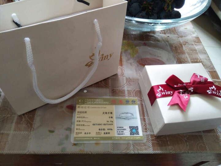 唯一(Winy)S999纯银手镯女足银女款拉伸银镯子送妈妈节日礼物 约24克 龙凤祥福 晒单图