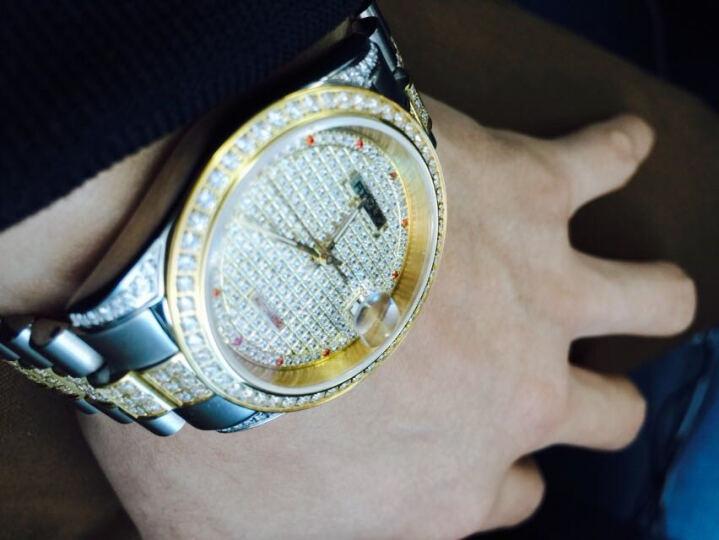 艾诺(AI LUO)手表男士表全自动机械表 男表满天星钻表 男士手表 精钢白面 晒单图