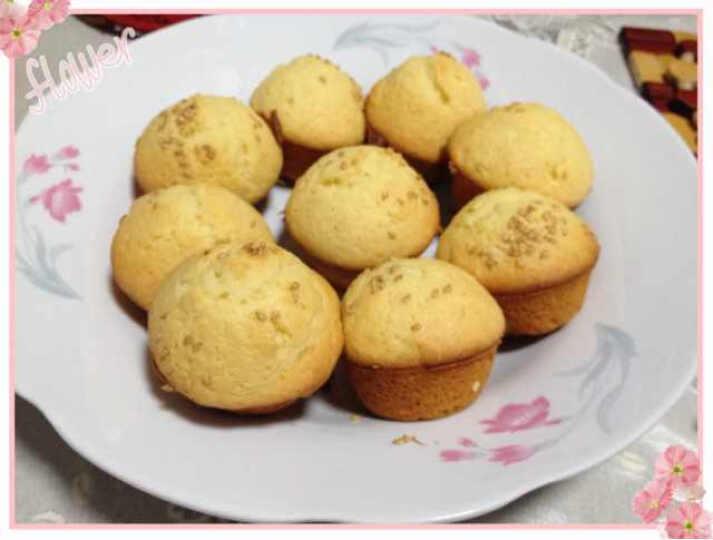 百钻 玛芬蛋糕预拌粉两种口味300g 烘焙原料 烤箱微波炉自制 送纸杯 原味 晒单图