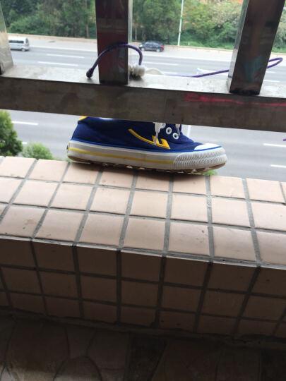 回力(Warrior) 男女儿童帆布鞋/儿童碎钉足球鞋/品牌童鞋 蓝色 37内长23cm 晒单图