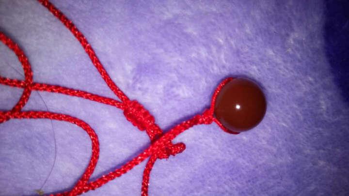 红道珠宝 水晶玛瑙吊坠 黑曜石 粉水晶 木变石 玉髓 萤石 手工编织转运珠 路路通 红玛瑙  14mm 晒单图