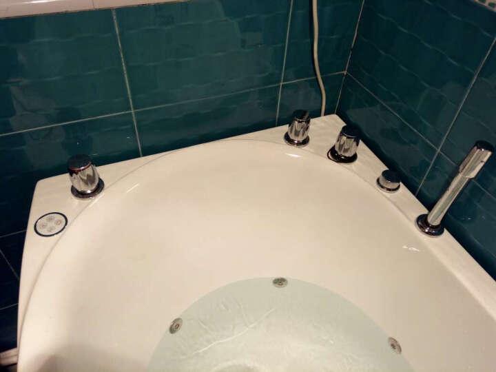 果敢 小户型亚克力冲浪按摩恒温加热浴盆异型成人迷你小浴缸家装  多规格可选 159 1.3米冲浪+恒温+电脑板+灯 晒单图