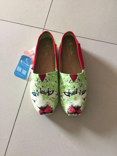 汤姆斯Tt&Mm新款帆布鞋女韩版学生女一脚蹬女生懒人鞋乐福鞋渔夫鞋玛丽鞋TM561109W 绿色 38 晒单图