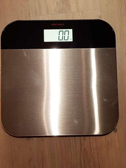 利快Soehnle德国进口家用精准体重秤体脂秤电子秤脂肪秤钢化玻璃不锈钢健康秤LED显示屏电子 晒单图