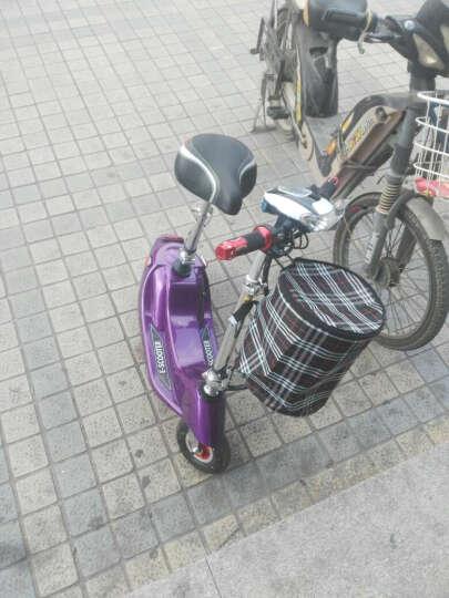 龙吟 女士迷你电动车电动滑板车成人电动自行车小海豚电瓶车代步车 紫色+续航50km+5重好礼 晒单图