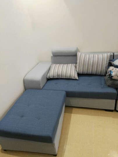 布佑沙发 布艺沙发组合家具简约现代沙发家装组合沙发 土豪金色储物款. 六件套出口版送地毯 晒单图