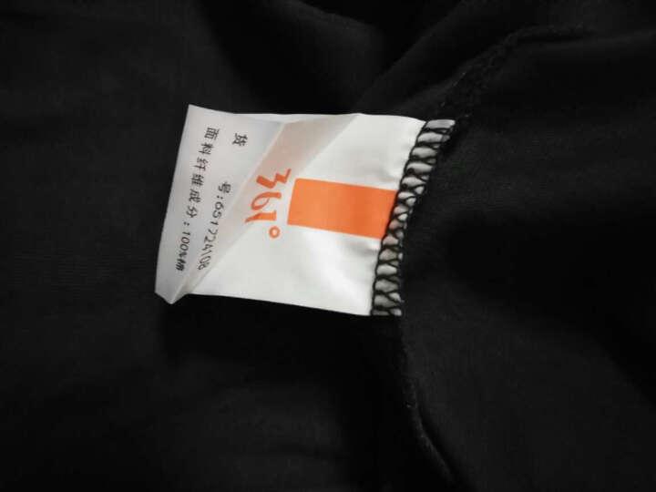 361度男装正品夏季男子圆领短T恤 夏季白色运动短袖 N 碳黑 S 晒单图