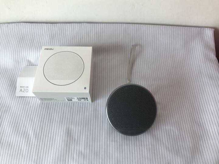 【自营配送】魅族A20 蓝牙小音箱 无线免提通话器 便携迷你小音响 收音机手机音乐播放器 白色 晒单图