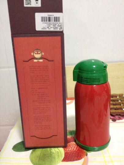 杯具熊(BEDDYBEAR)儿童保温杯带吸管儿童水杯316不锈钢保温儿童水壶630ml 升级款-红色小猴 晒单图