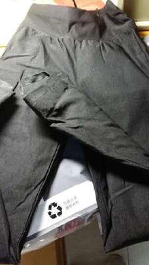 南极人高弹力外穿修身保暖90白鸭绒打底羽绒裤女 格子 2XL 晒单图
