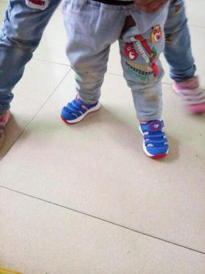 童鞋运动鞋透气网面男款 男童毛毛虫童鞋单网夏儿童凉鞋男款 宝宝学步鞋小孩鞋宝宝凉鞋机能鞋 玫红色单层网 28 晒单图