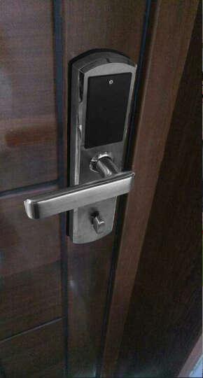 天龙品(tianlongpin) 天龙品指纹密码智能锁电子防盗门家用高端磁卡感应锁经典 时尚银 指纹锁+密码+刷卡 不安装 晒单图